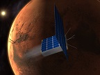 Time Capsule To Mars spacecraft approaching Mars